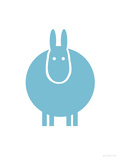 Aqua Donkey Reproduction giclée Premium par  Avalisa