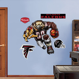 Atlanta Falcons Die Cut RB Liquid Blue Wall Decal