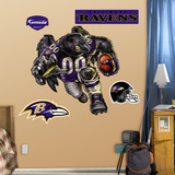 Baltimore Ravens Die Cut RB Liquid Blue Wall Decal