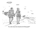 """""""So, when do you hear back from the Chia people?"""" - New Yorker Cartoon Premium Giclee Print by Michael Crawford"""