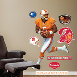 Josh Freeman Throwback Uniform Wall Decal