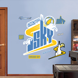 Chicago Sky Logo   Wall Decal