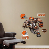 Cleveland Browns Die Cut RB Liquid Blue Wall Decal