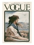 Vogue Cover - July 1907 Regular Giclee Print by G. Howard Hilder
