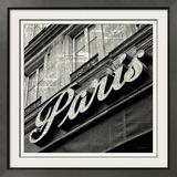 Newsprint Paris Poster by Marc Olivier