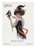 Vogue Cover - February 1910 Regular Giclee Print