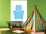 Blue Bear Affiches par  Avalisa