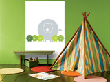 Lime Baby Pigs Wall Mural by  Avalisa