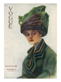 Vogue Cover - January 1910 Regular Giclee Print by Stuart Travis