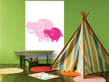 Pink Baby Elephant Posters by  Avalisa