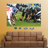 Eagles-Giants Line of Scrimmage Mural Wall Decal
