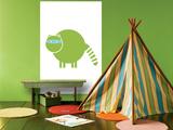Green Raccoon Prints by  Avalisa