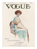 Vogue Cover - February 1909 Regular Giclee Print by Jean Parke