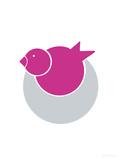 Fuschia Bird Nest Art par  Avalisa