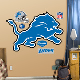 Detroit Lions 2009 Logo Wall Decal
