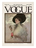 Vogue Cover - February 1908 Regular Giclee Print by Will Foster