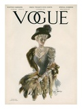 Vogue Cover - November 1907 Regular Giclee Print by Stuart Travis