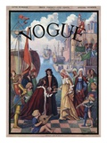 Vogue Cover - December 1906 Regular Giclee Print by Esther Peck