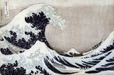 The Great Wave of Kanagawa Wall Decal by Katsushika Hokusai