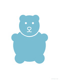 Aqua Bear Print by  Avalisa