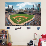 Detroit Tigers Comerica Park Stadium Mural   Wall Decal