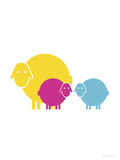 Multi Baby Sheep Posters by  Avalisa