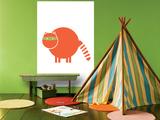 Orange Raccoon Prints by  Avalisa