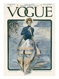 Vogue Cover - July 1908 Regular Giclee Print by G. Howard Hilder
