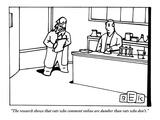 """The research shows that rats who comment on-line are dumber than rats who…"" - New Yorker Cartoon Premium Giclee Print by Bruce Eric Kaplan"
