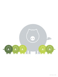 Lime Baby Pigs Kunstdrucke von  Avalisa