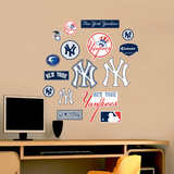 Yankees Jr. Logosheet   Wall Decal