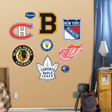 NHL Original Six Logo Wall Decal