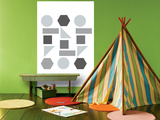 Gray Shapes Prints by  Avalisa