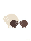 Brown Baby Sheep Art by  Avalisa