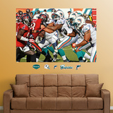 Dolphins-Buccaneers Line of Scrimmage Mural Wall Decal
