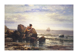 Henry Hudson Entering New York, 1892 Premium Giclee Print by Thomas Moran