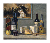 Cheese and Wine Premium Giclee Print by Valeriy Chuikov