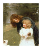A Sketch of the Artist's Daughter Premium Giclee Print by Arthur Elsley