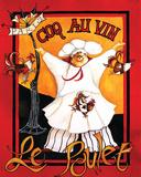 Coq Au Vin Affiche par Jennifer Garant