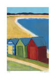 Beach Huts Giclee Print by Gale McKee