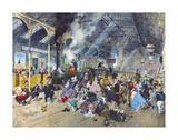 Stilton Junction Premium Giclee Print by Terence Cuneo