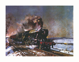 The Flying Scotsman Premium Giclee Print by Terence Cuneo