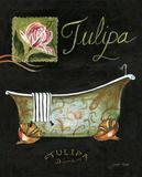 Tulipa Bath Prints by Jennifer Garant