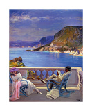 On the Riviera Premium Giclee Print by Sir John Lavery