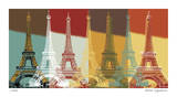 Eiffel Tower Giclee Print by Mj Lew