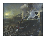 Paddington Station Premium Giclee Print by Terence Cuneo