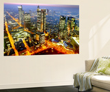 The Frankfurt, Germany, Skyline is Seen at Sunset Mural