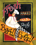 Fresh Baked Bread Poster by Jennifer Garant