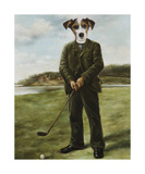 Persistent Golfer Premium Giclee Print by Thierry Poncelet
