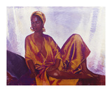 Sheila in Gold Premium Giclee Print by Boscoe Holder